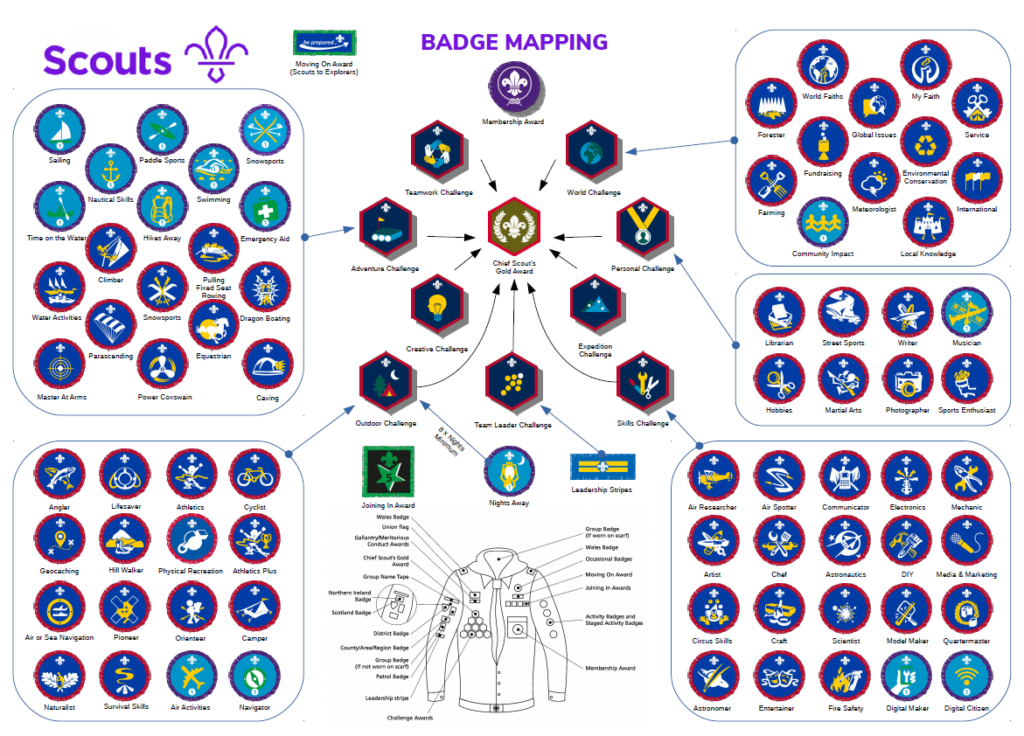 scouts badge map